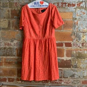 Orange lace dress from Cynthia Rowley
